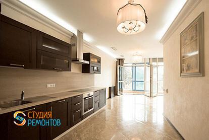 Ремонт кухни с залом в трехкомнатной квартире 66 кв.м., фото-1
