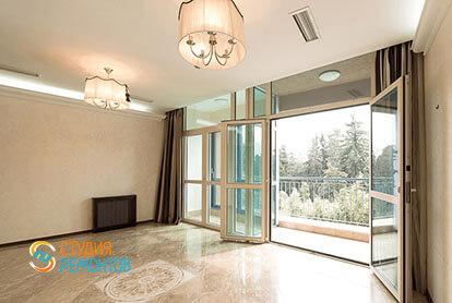 Ремонт кухни с залом в трехкомнатной квартире 66 кв.м., фото-2