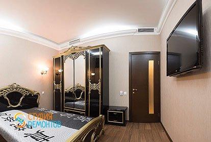 Ремонт спальни в трехкомнатной квартире 66 кв.м.