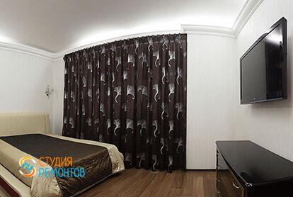 Ремонт спальной комнаты в трехкомнатной квартире 66 кв.м.