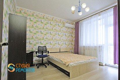 Евроремонт жилой комнаты в 5-комнатной квартире 98 кв.м.