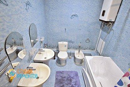 Евроремонт гостевого санузла в 5-комнатной квартире 98 кв.м.