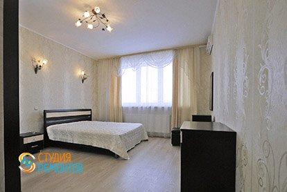 Евроремонт спальни в 5-комнатной квартире 98 кв.м.