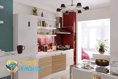 Евроремонт кухни 12 кв.м. фото-3