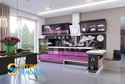 Евроремонт кухни 22 кв.м.