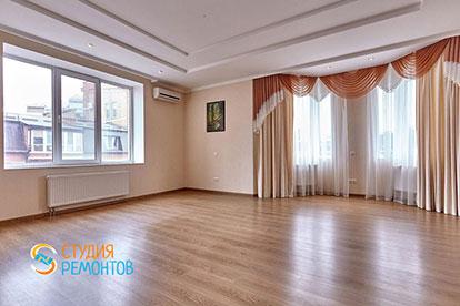 Евроремонт гостиной в двухкомнатной квартире 52 кв. м.