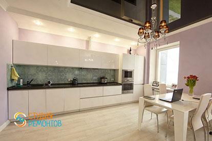 Евроремонт кухни в однокомнатной квартире 39 кв. м.