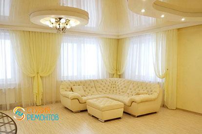 Евроремонт комнаты-студии в однокомнатной квартире 45 кв. м.