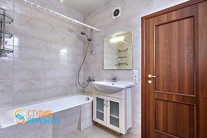 Евроремонт ванной в двухкомнатной квартире 52 кв. м.