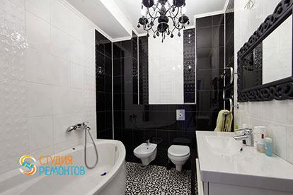 Евроремонт ванной в однокомнатной квартире 39 кв. м.