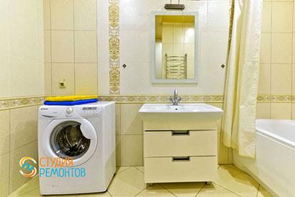 Евроремонт ванной в однокомнатной квартире 45 кв. м.