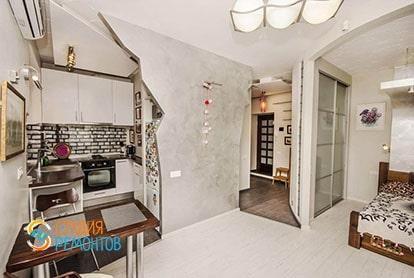 Евроремонт комнаты с кухней в квартире-студии 32 кв.м., фото-1