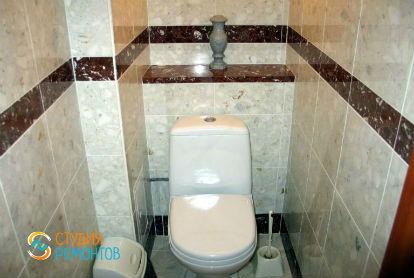 Евроремонт туалета 1,5 кв.м.