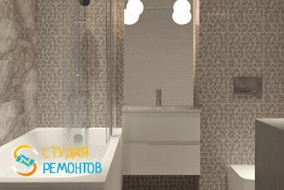 Евроремонт ванной 3,5 кв.м. фото-1