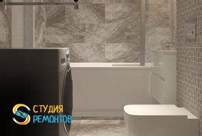 Евроремонт ванной 3,5 кв.м. фото-2