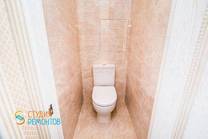 Евроремонт туалета в двухкомнатной квартире 46 метров
