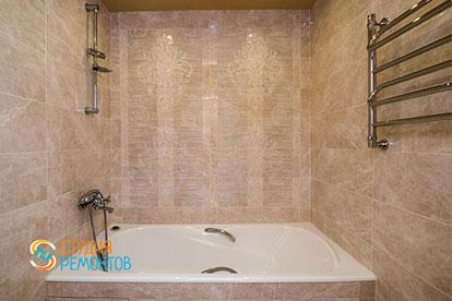 Евроремонт ванной в двухкомнатной квартире 46 метров