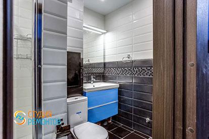 Косметический ремонт совмещённого санузла в квартире-студии 20 м2, фото-1