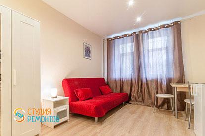 Капитальный ремонт комнаты-студии в однокомнатной квартире 18 кв. м.