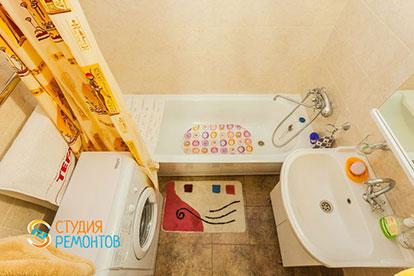 Капитальный ремонт ванной в однокомнатной квартире 27 кв. м.