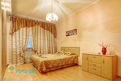 Капитальный ремонт спальни 21 кв.м.