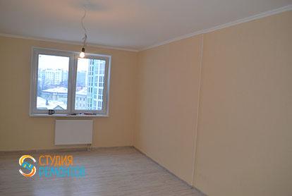 Капитальный ремонт гостиной в двухкомнатной квартире 41 кв.м. фото-1