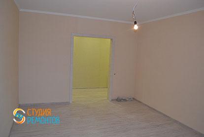 Капитальный ремонт гостиной в двухкомнатной квартире 41 кв.м. фото-2