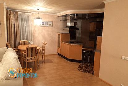 Капремонт кухни-зала в 3-х комнатной квартире 57 кв.м.