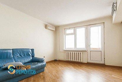 Ремонт в гостиной в трехкомнатной квартире 63 м2