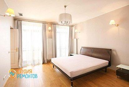 Капитальный ремонт спальной в 4-х комнатной квартире 77 кв.м.