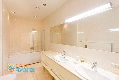 Капитальный ремонт ванной и туалета в 4-х комнатной квартире 77 кв.м.