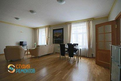 Ремонт гостиной в 4-х комнатной квартире 84 кв.м.
