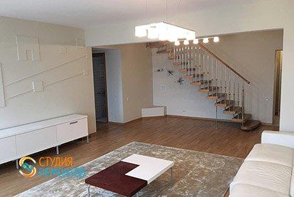 Капитальный ремонт гостиной в 5-комнатной квартире 86 кв.м.