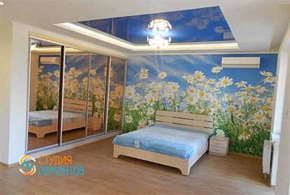 Капитальный ремонт спальни с кухней в квартире студии 28 м2, фото-2