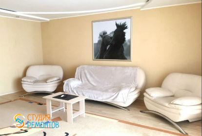 Капитальный ремонт гостиной в двухкомнатной новостройке 49 кв.м.