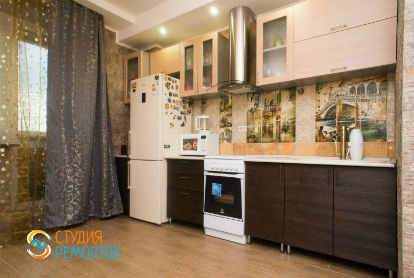 Капитальный ремонт кухни в однокомнатной новостройке 37 кв.м.