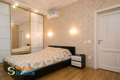 Капитальный ремонт спальни в однокомнатной новостройке 37 кв.м.