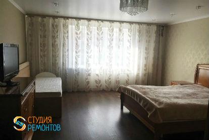 Капитальный ремонт спальни в однокомнатной новостройке 39 кв.м.
