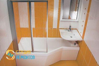 Капитальный ремонт ванной 2,8 кв.м.