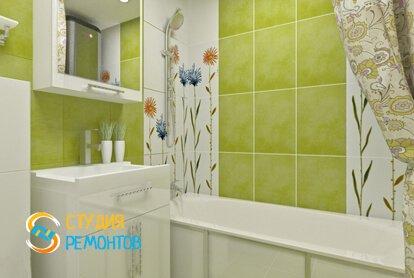 Капитальный ремонт ванной 4 кв.м.