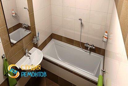 Капитальный ремонт ванной 4 м2