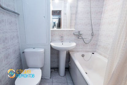 Косметический ремонт санузла в однокомнатной квартире 37,5 кв.м.