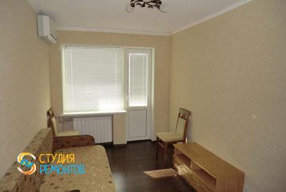 Косметический ремонт жилой комнаты в однокомнатной квартире 35 кв.м.