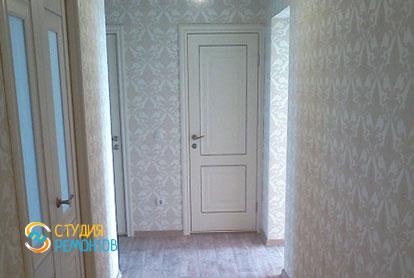 Косметический ремонт коридора в двухкомнатной квартире 55,1 м2