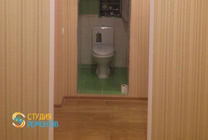 Косметический ремонт коридора в двухкомнатной квартире 55,1 кв.м.