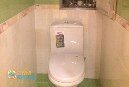 Косметический ремонт туалета в двухкомнатной квартире 55,1 кв.м.