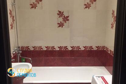 Косметический ремонт ванной в двухкомнатной квартире 55,1 м2