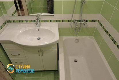 Косметический ремонт ванной в двухкомнатной квартире 55,1 кв.м.