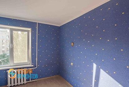 Косметический ремонт детской комнаты в трехкомнатной квартире 66 кв.м.