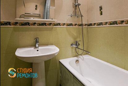 Косметический ремонт ванной в 3-х комнатной квартире 66 м2